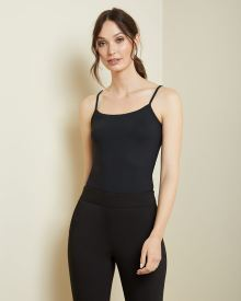 Black Fitted Cami with Adjustable Straps