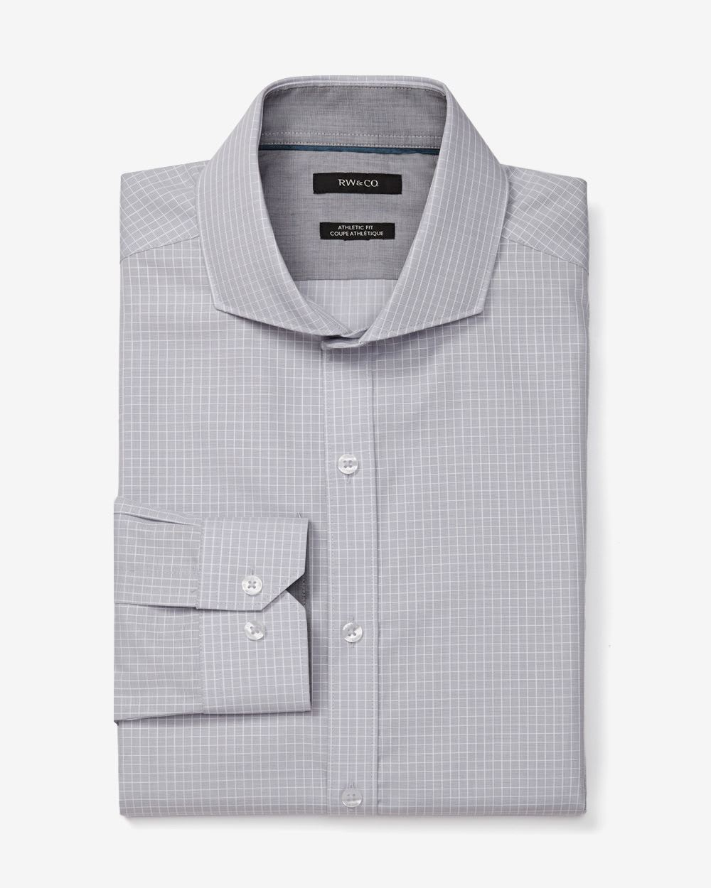 Athletic fit window pane dress shirt rw co for Best athletic dress shirts
