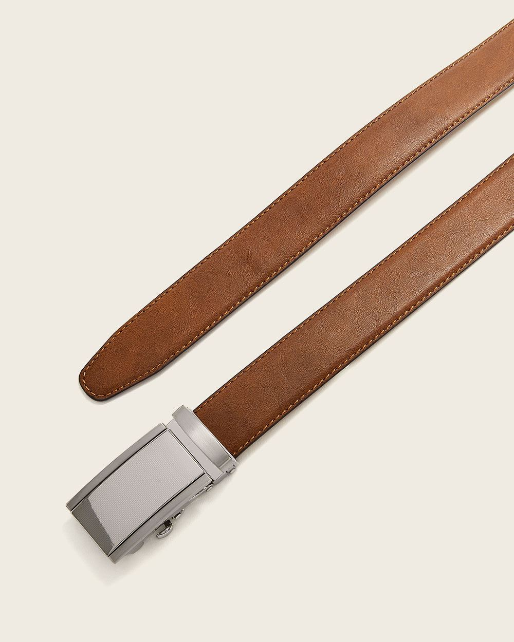 Leather Belt with Automatic Buckle