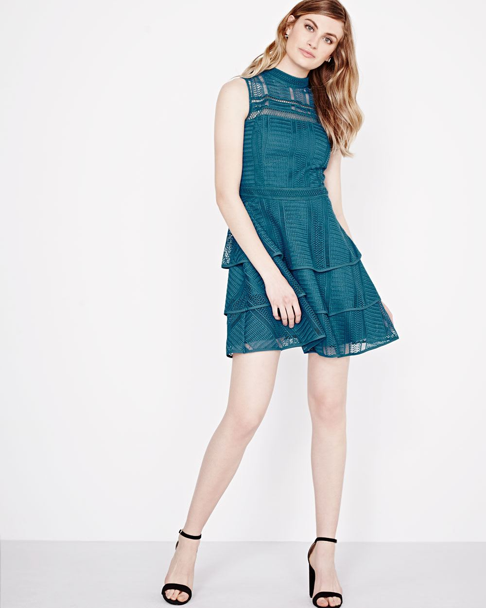 Tiered Fit and Flare Dress by Adelyn rae | RW&CO.