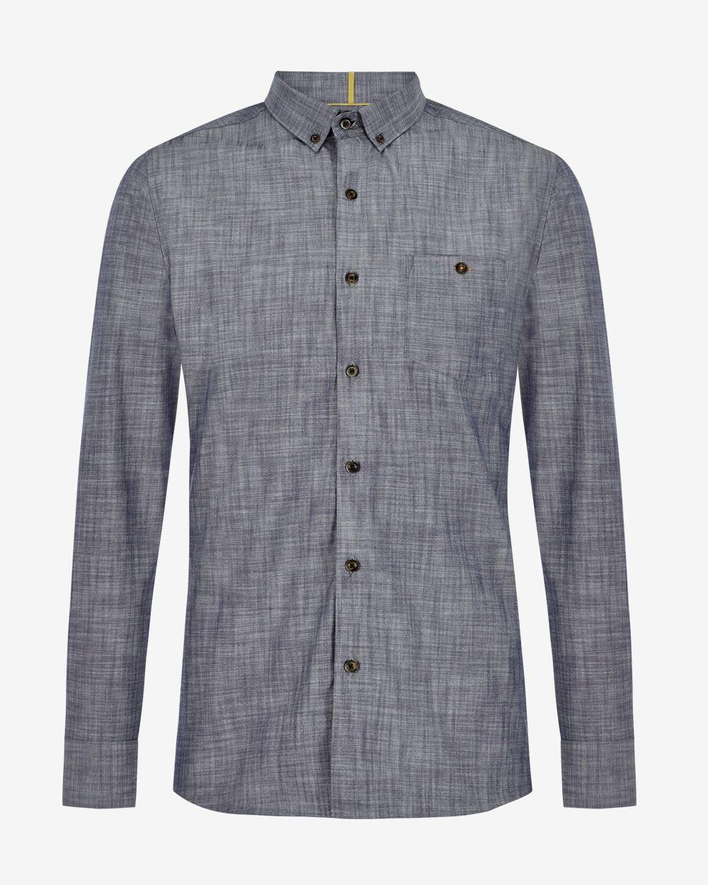 bfeec2ab5f Dark navy chambray Tailored fit shirt | RW&CO.