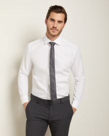 Athletic Fit white Dress Shirt