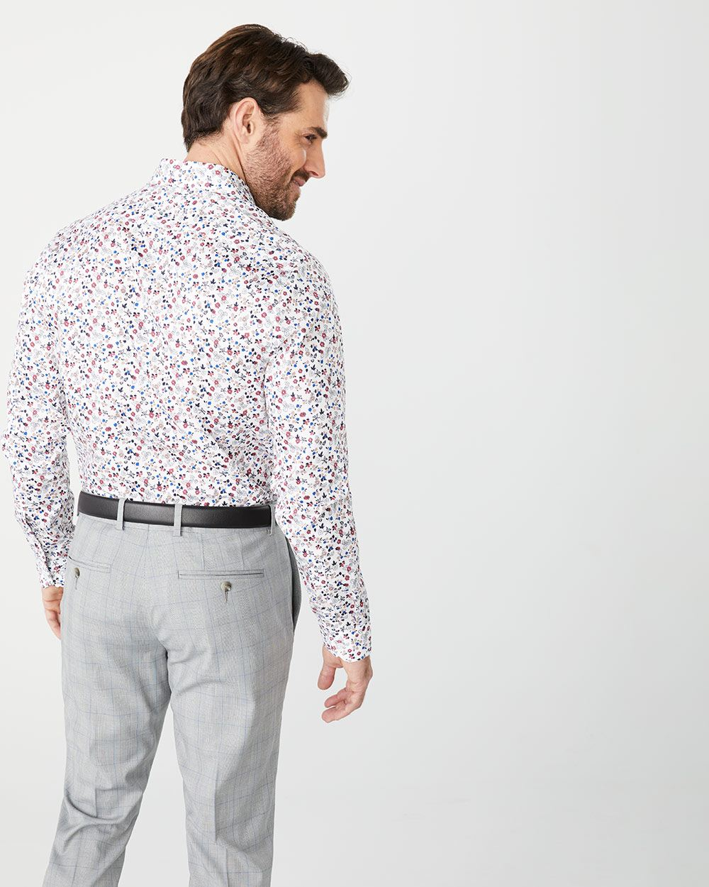 Tailored Fit small floral dress shirt