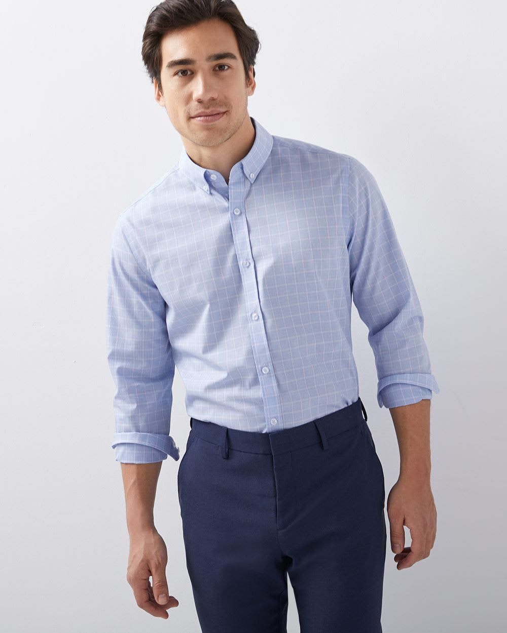 Athletic Fit Checkered Dress Shirt Rwco