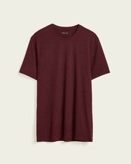Solid Short sleeve crew-neck t-shirt