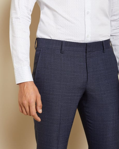 Slim Fit blue prince of wales suit pant