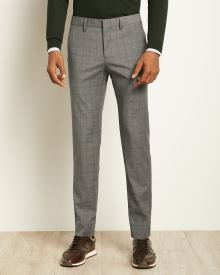 Tailored Fit Grey Glen Check City Pant