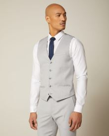 Essential light grey Suit Vest