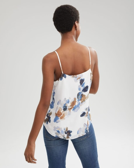 Lace-trimmed Silky Crepe Cami