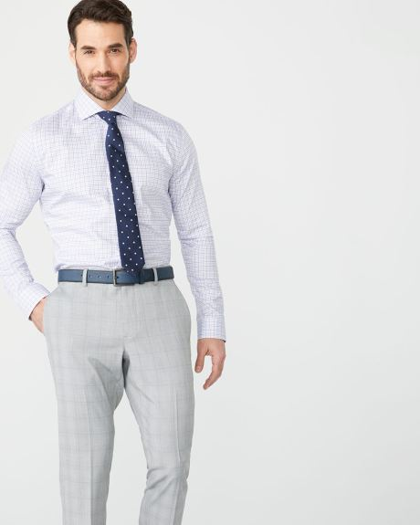 Tailored fit pastel check dress shirt - Short