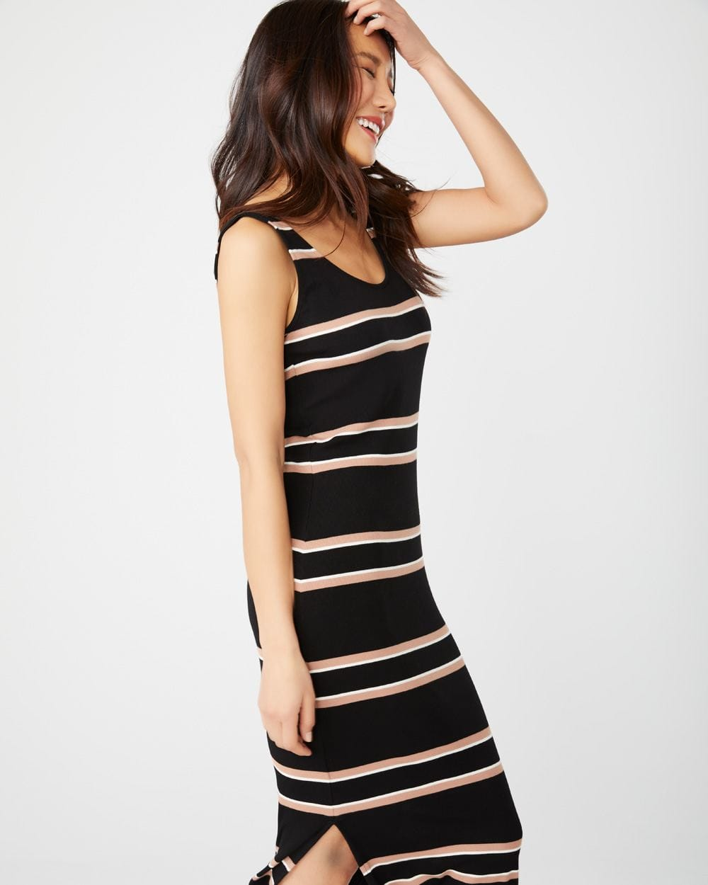 Striped Bodycon midi dress