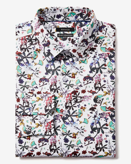 Slim Fit large Floral Dress Shirt