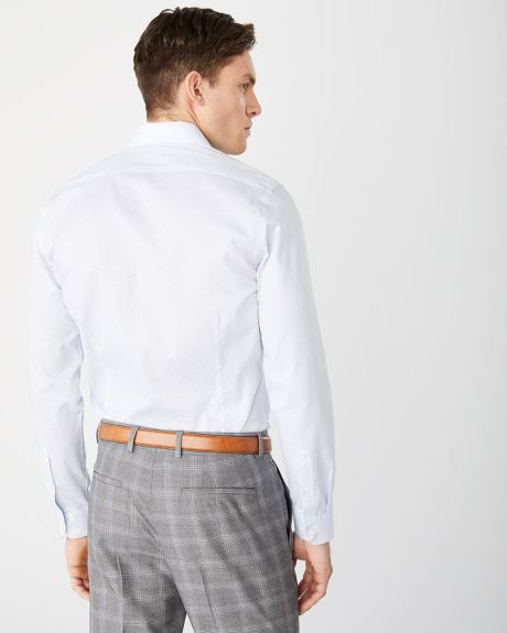 Tailored fit light dot dress shirt - Short