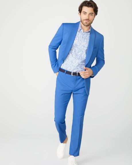 Tailored Fit Bright blue suit pant