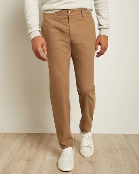 Slim Fit Brushed Twill Pant
