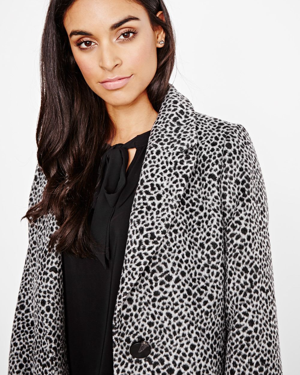 42ed498c98fe Leopard wool-blend duster coat | RW&CO.
