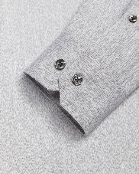 Slim fit light grey dress shirt