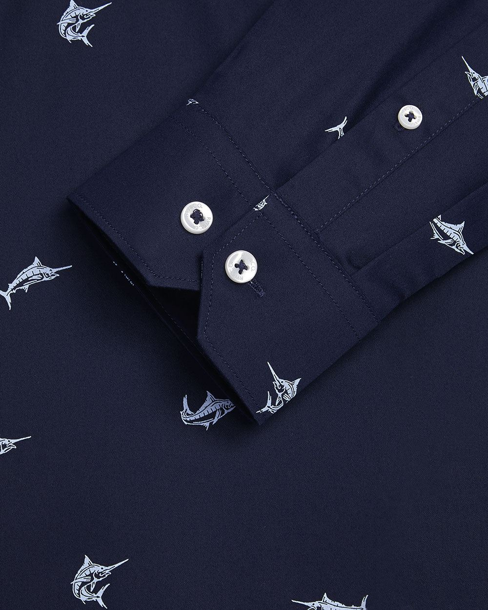 Slim fit swordfish dress shirt