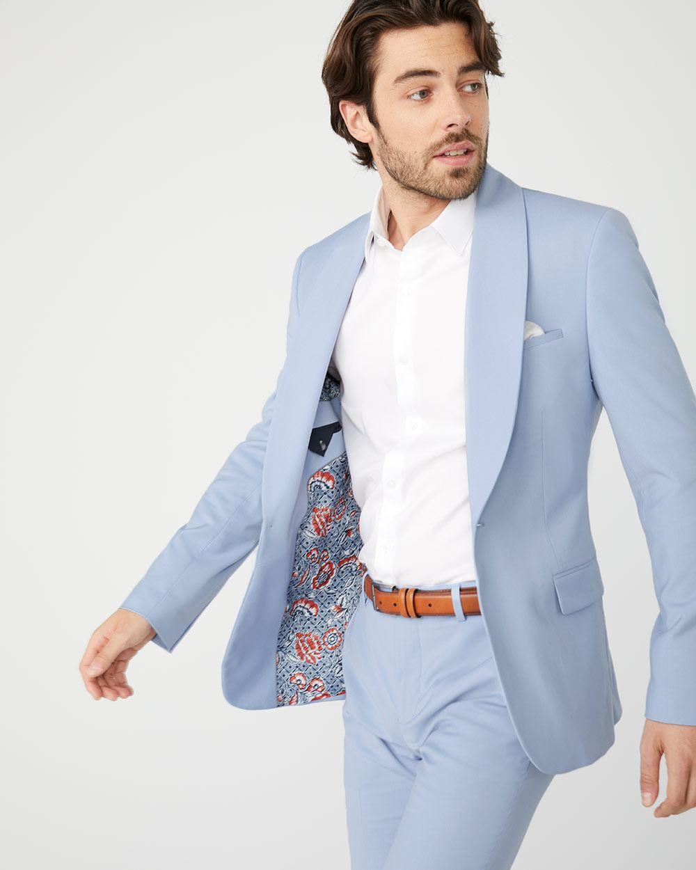 newest 3f7f1 6fb98 Slim Fit Light Blue suit blazer