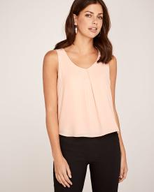 C&G High-low silky crepe cami blouse