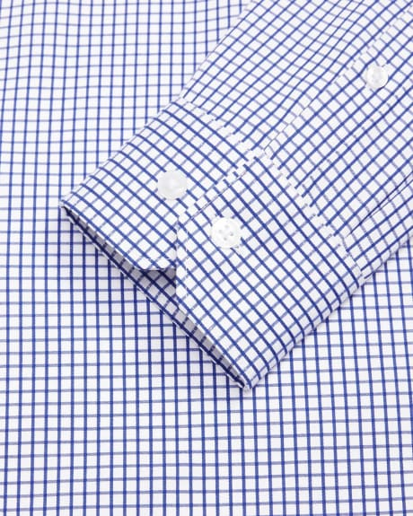 Slim fit blue check dress shirt