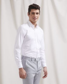 Slim Fit white dress shirt - Short