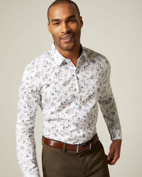 Tailored fit large floral dress shirt
