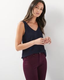 Solid silky crepe Cami Blouse