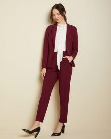 Buttoned High-waist tapered leg pant