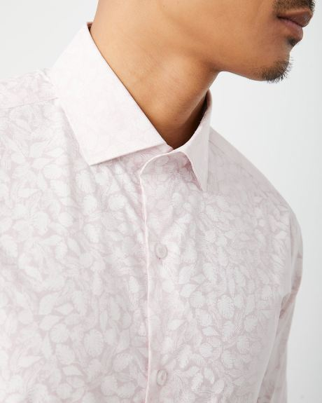 Tailored Fit tonal leaves Dress Shirt