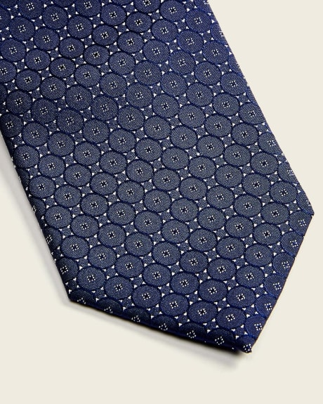 Regular blue medallion tie