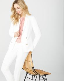 Loose fit white blazer