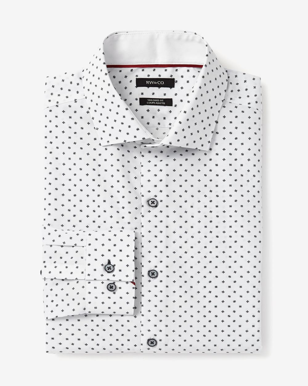 Tailored Fit Floral Dress Shirt Rw Co