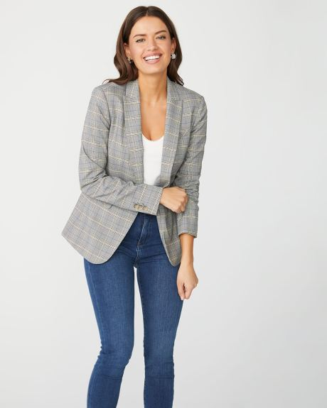 Fitted glen plaid blazer