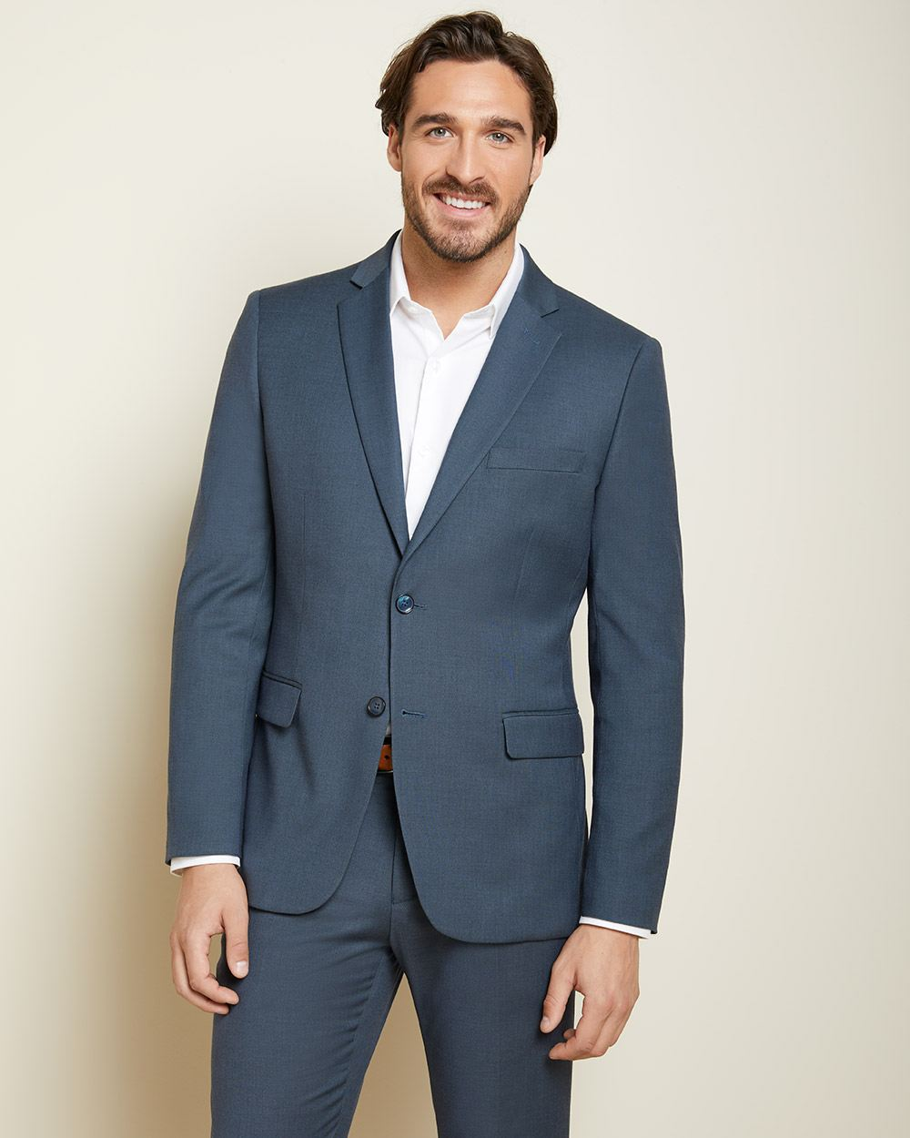 Tailored Fit Teal blue suit blazer with COOLMAX(TM) technology