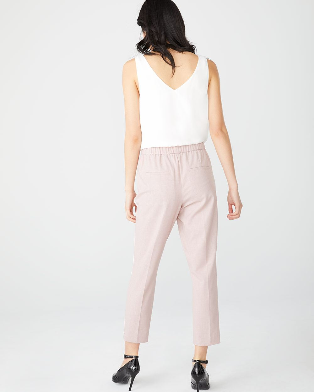 Stretch ankle-length Tuxedo Pant