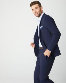 Slim Fit E-Tech (TM) Navy suit Blazer