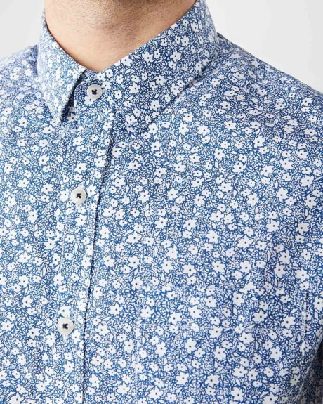 Tailored Fit Short Sleeve floral Shirt