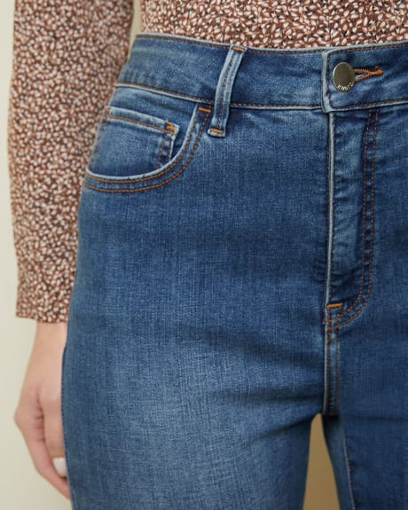 True High-waisted skinny jeans in medium blue denim