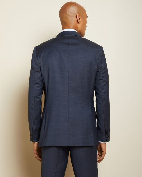 Tailored Fit Two-Tone Wool Suit Blazer