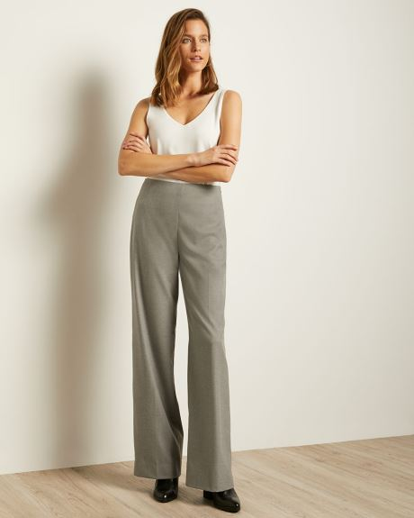 Grey Flannel Ultra High-waist Signature Fit Wide Leg Pant