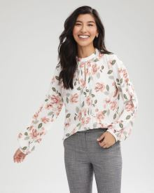 Puffy Sleeve Pintuck Blouse