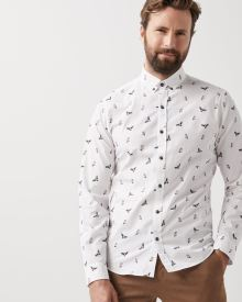 Slim fit Owl print shirt