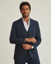 Essential athletic Fit navy blue suit Blazer