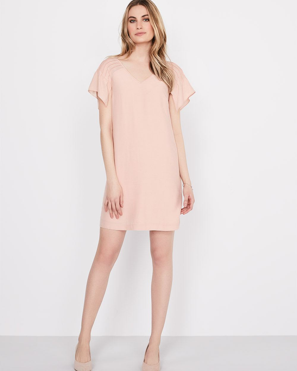 Shift dress with flowy sleeves | RW&CO.