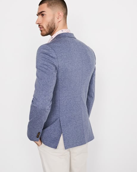 Slim Fit Jaspe Knit Blazer