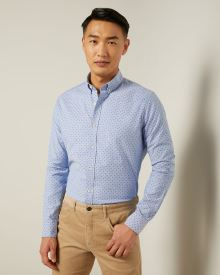 Tailored Fit Printed Oxford Shirt