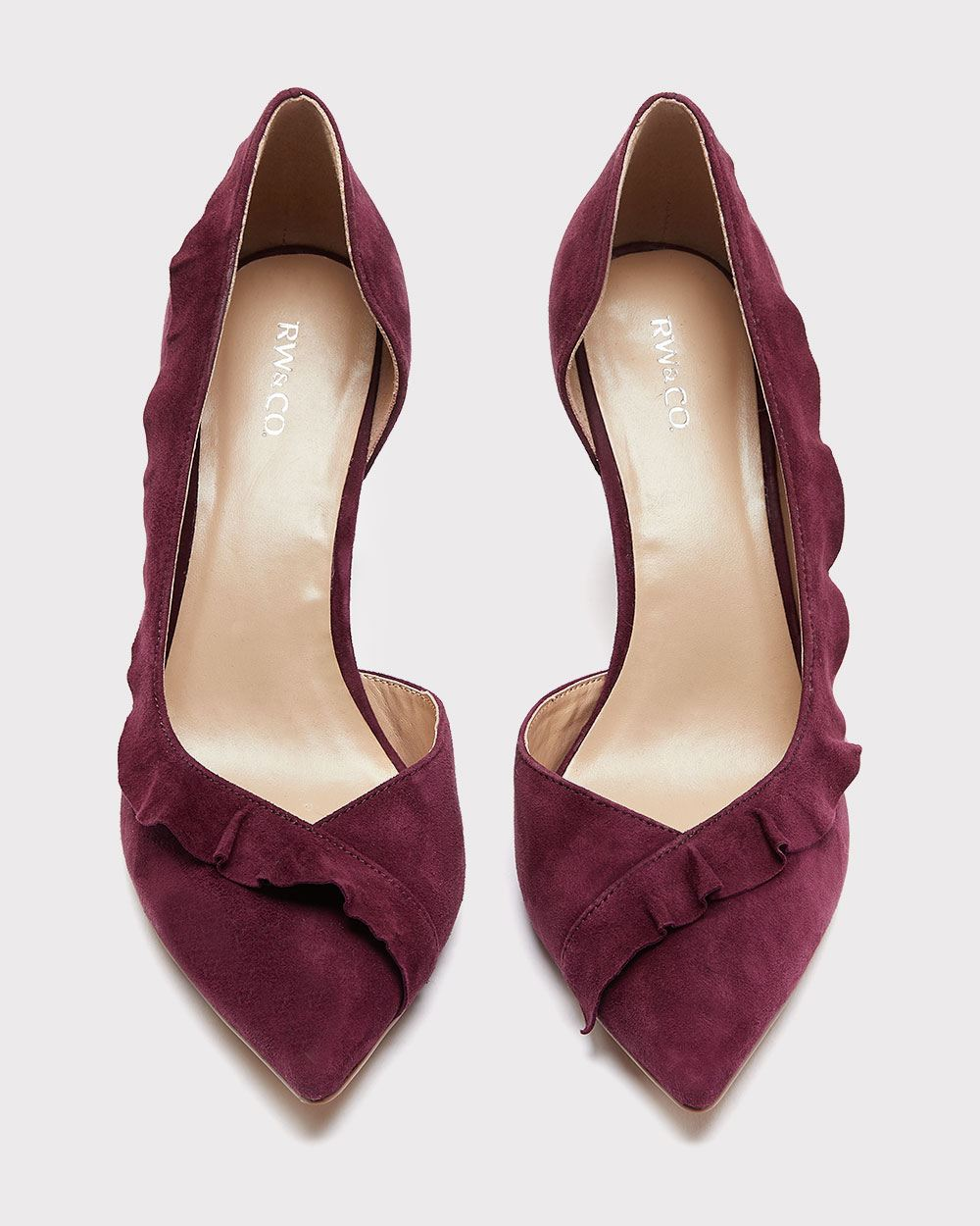 Suede Ruffled Pump