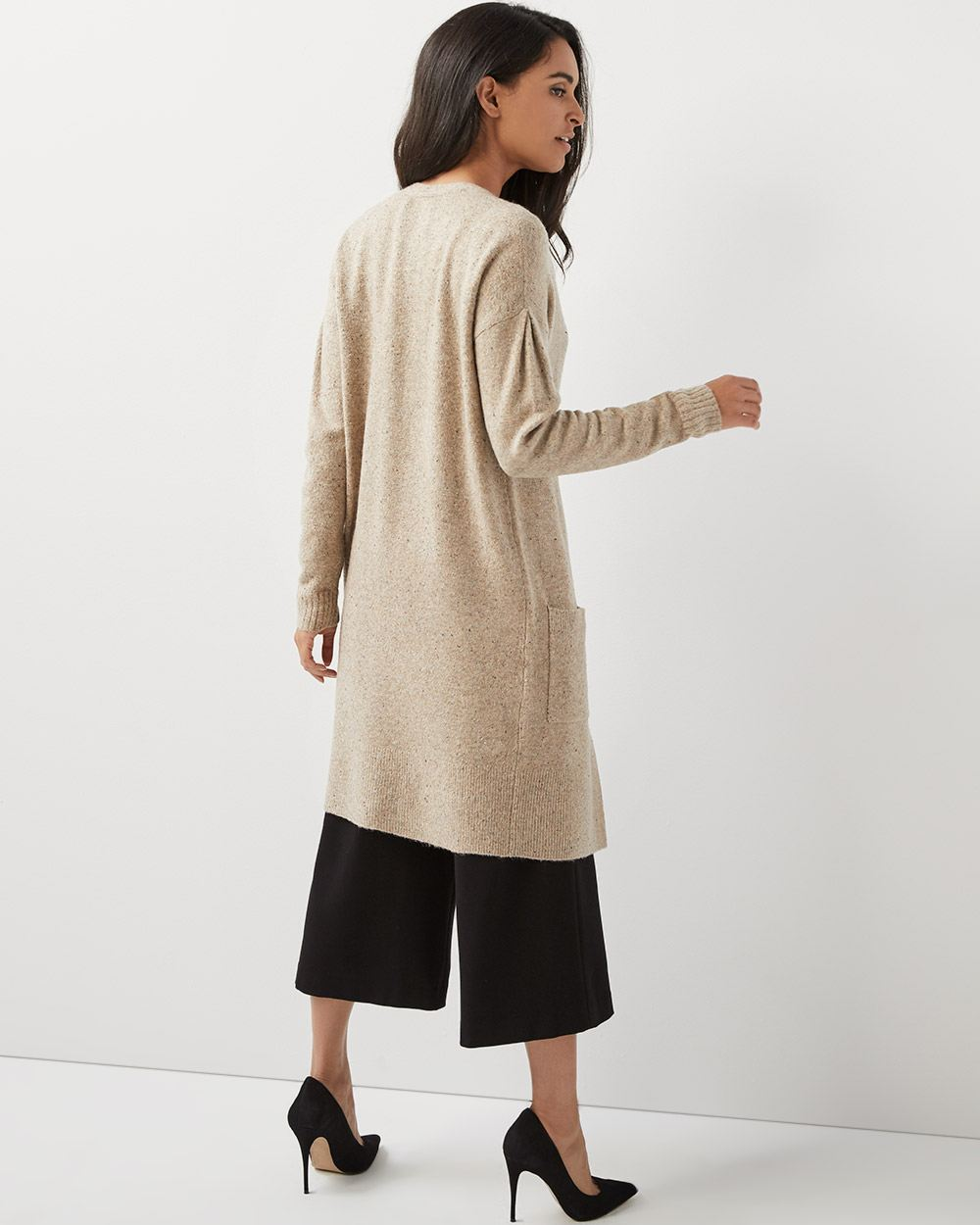 C&G Spongy knit duster cardigan