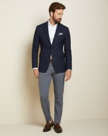 Slim fit nep blazer